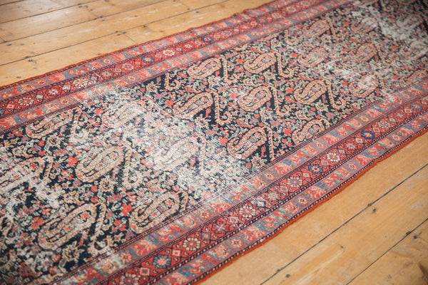 Distressed Antique Paisley Malayer Rug Runner / Item 2667 image 2
