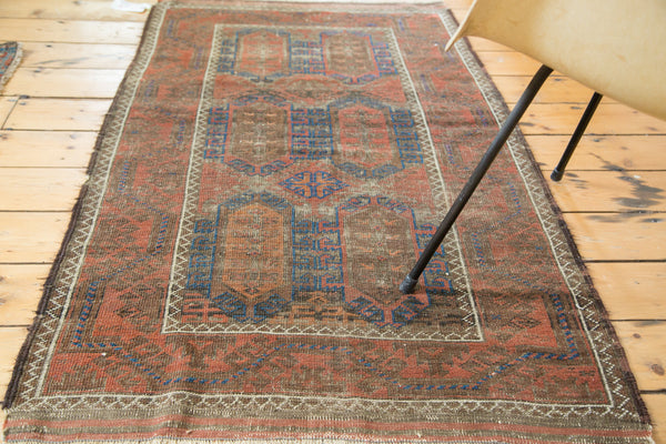 3x5 Distressed Antique Belouch Rug - Old New House