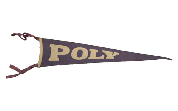 Antique Poly College Felt Flag Banner - Old New House