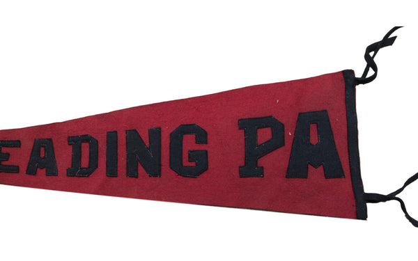 Antique Reading PA Felt Flag Banner Pennant - Old New House