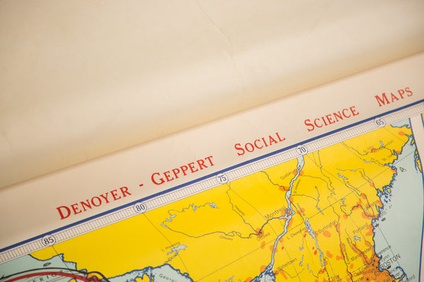 Vintage Denoyer Geppert Map - Old New House