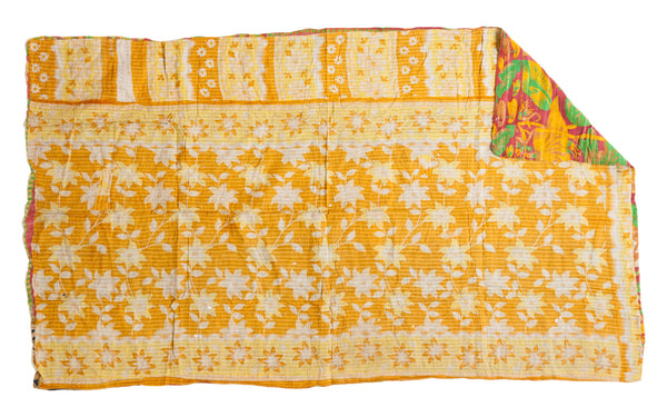 Vintage Indian Kantha Quilt - Old New House
