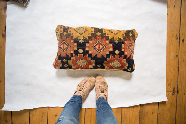 Antique Rug Fragment Pillow - Old New House