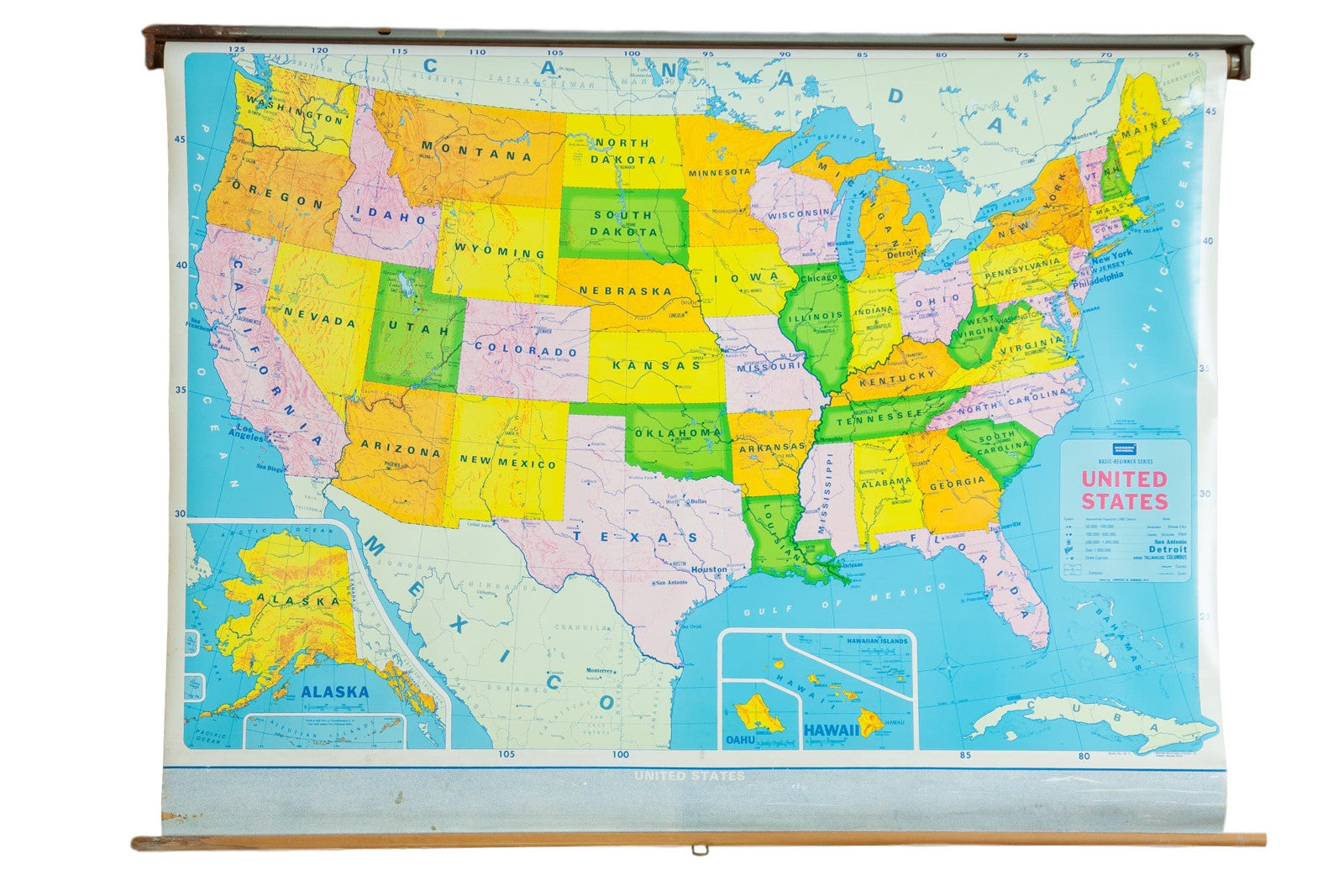 Pull Down Maps School Wall Charts - Usa large map