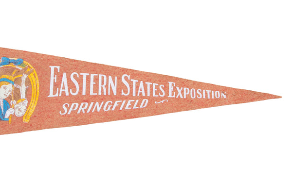 Vintage Eastern States Exposition Springfield Felt Flag Banner - Old New House