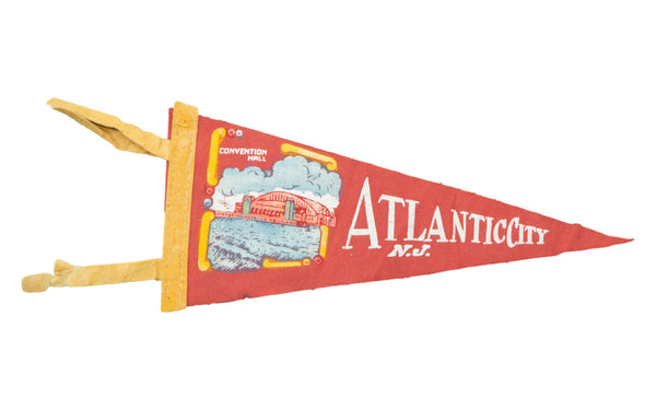 Vintage Atlantic City NJ Felt Flag Banner - Old New House