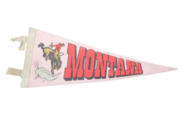Vintage Montana Felt Flag Banner - Old New House