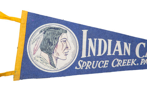 Vintage Indian Caverns Spruce Creek PA Felt Flag Banner