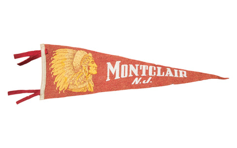Vintage Montclair NJ Felt Flag Banner