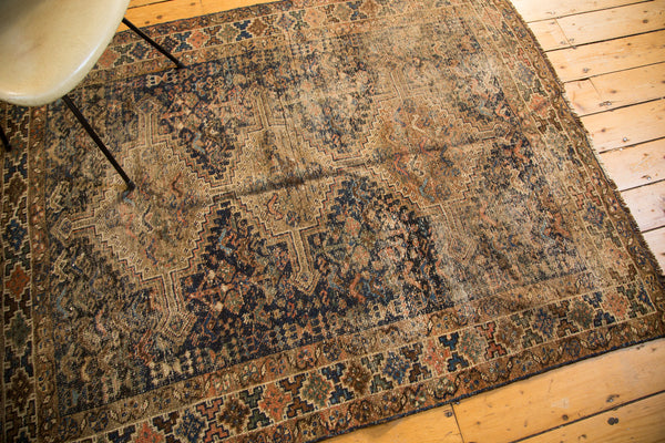 4.5x6 Vintage Distressed Shiraz Rug - Old New House