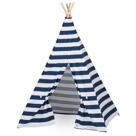Kids Nautical Stripe Teepee - Old New House