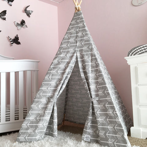 Kids Gray Teepee Arrows - Old New House