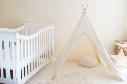 Kids Natural Canvas Teepee - Old New House