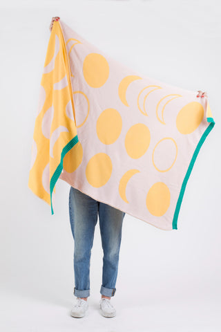 Handmade Modern Blanket Yellow - Old New House