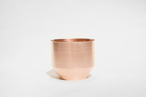 Modern Copper Planter 16""