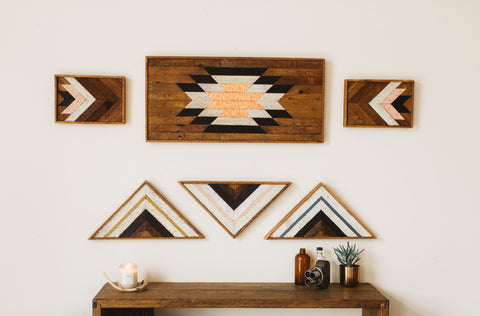 Reclaimed Wood Art Large - Old New House