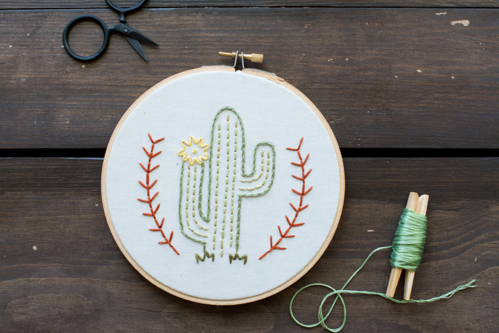 Cactus Embroidery Art