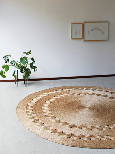 7' Round Hemp Rug - Old New House