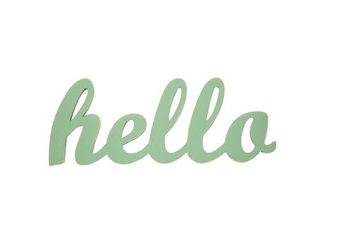 Hello Sign Seafoam - Old New House