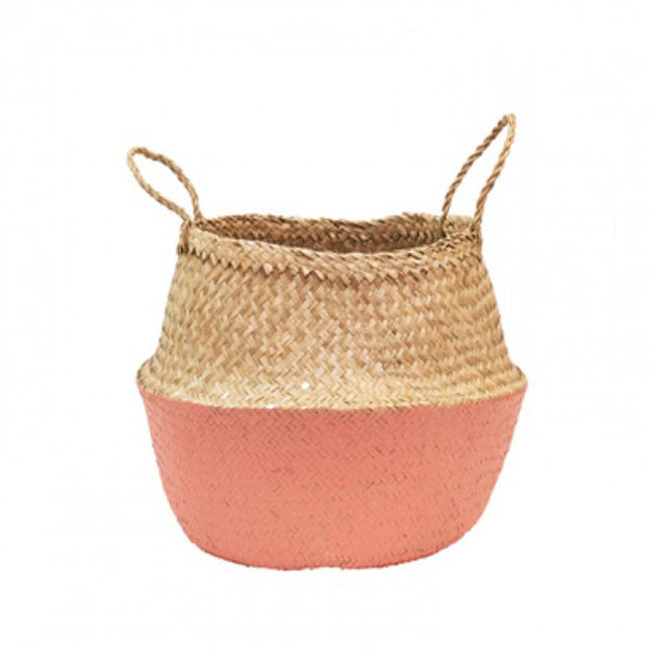 Coral Dipped Belly Basket by Olli Ella - Old New House