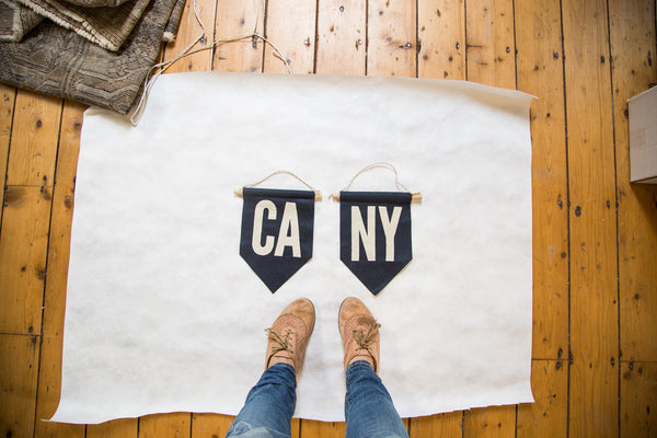 NY Felt Flag Navy - Old New House