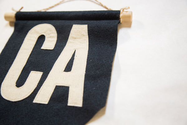 CA Felt Flag Navy - Old New House
