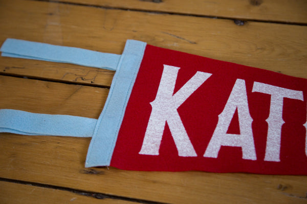Katonah NY Felt Pennant Red and White - Old New House