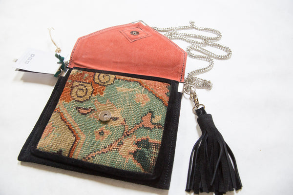 Handmade Rug Fragment Bag - Old New House
