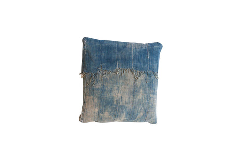 African Indigo Throw Pillow