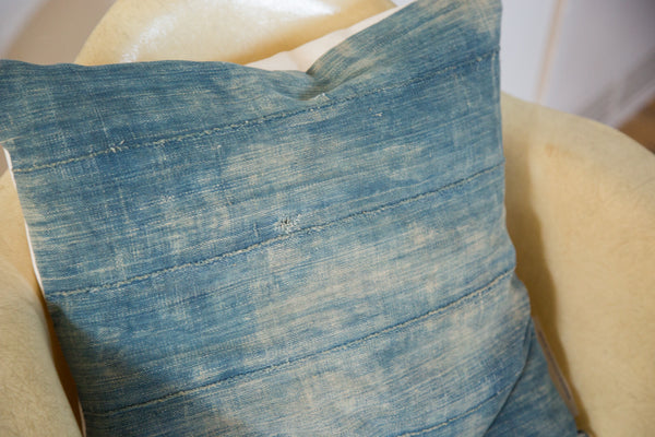 African Indigo Throw Pillow - Old New House
