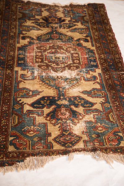 3.5x6 Vintage Distressed Malayer Rug - Old New House