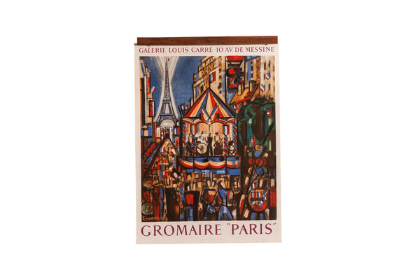 Mid Century Paris Poster - Old New House