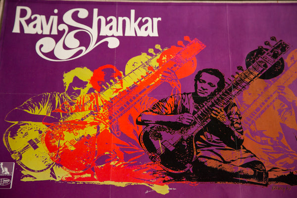 Vintage Ravi Shankar Music Poster - Old New House
