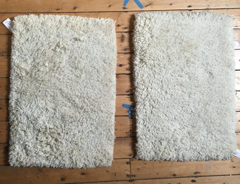2x3 Pair of New Moroccan Shag Bath Rugs - Old New House