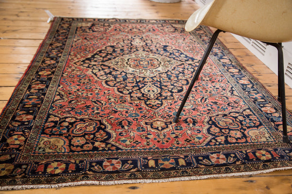 4x6.5 Vintage American Sarouk Rug - Old New House