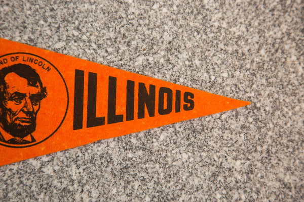 Illinois Land of Lincoln Felt Flag - Old New House