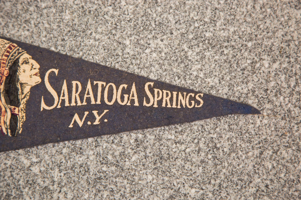 Saratoga Springs NY Felt Flag - Old New House