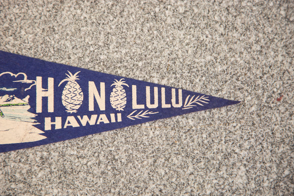 Honolulu Hawaii Felt Flag - Old New House