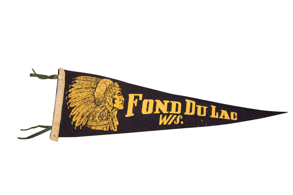 Fond Du Lac Wisconsin Felt Flag - Old New House