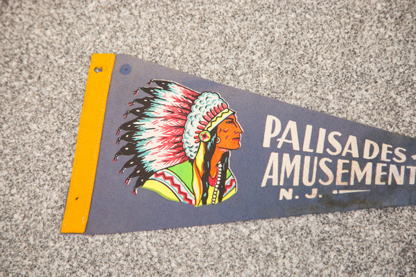 Palisades Amusement Park NJ Felt Flag - Old New House