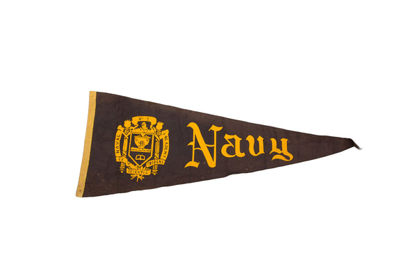RESERVED US Navy Naval Academy Felt Flag - Old New House