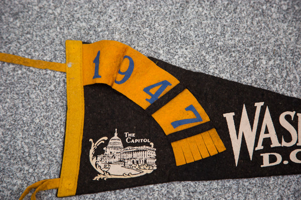 1947 Washington DC Felt Flag - Old New House