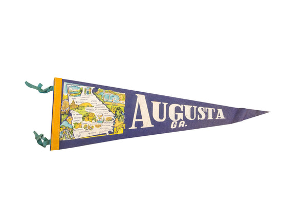 Augusta Georgia with Cities Felt Flag - Old New House