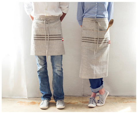 Handmade in USA Linen Long Apron
