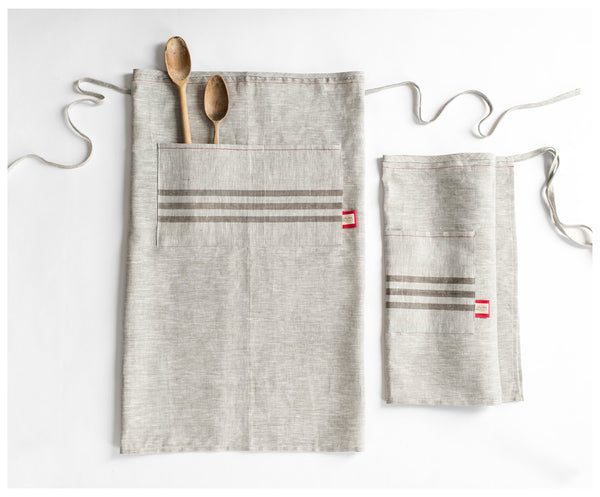 Handmade in USA Linen Long Apron - Old New House