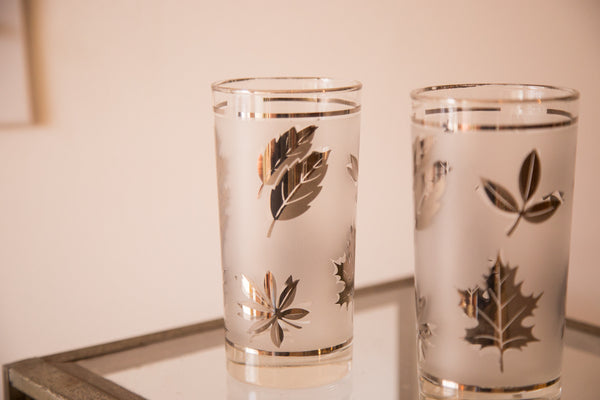 Mid Century Glassware Fall Leaves - Old New House