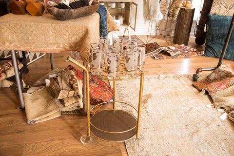 Hollywood Regency Vintage Bar Cart