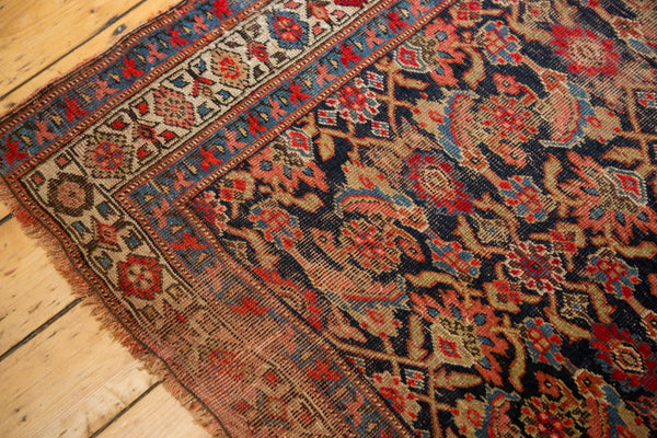 Vintage Distressed Bijar Rug Runner