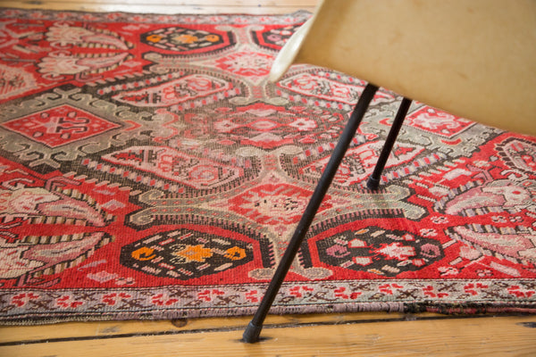 Antique Distressed Karabagh Rug Runner