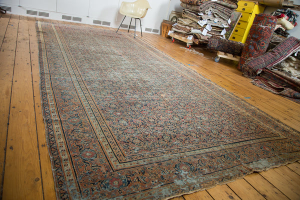 Antique Distressed Doroksh Gallery Rug Runner